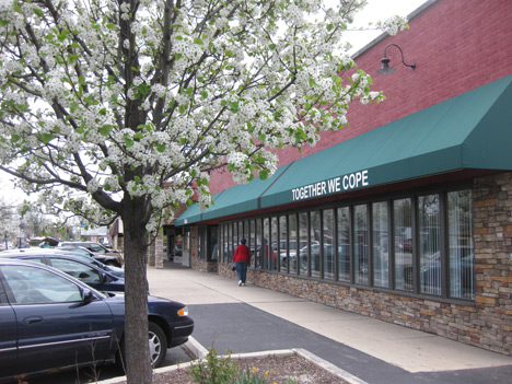 In 2000, Together We Cope purchased a new building at its present location on Oak Park Ave and renovated it with donated materials and volunteer labor.