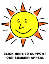 Cartoon drawing of the sun representing the summer appeal campaign at together we cope