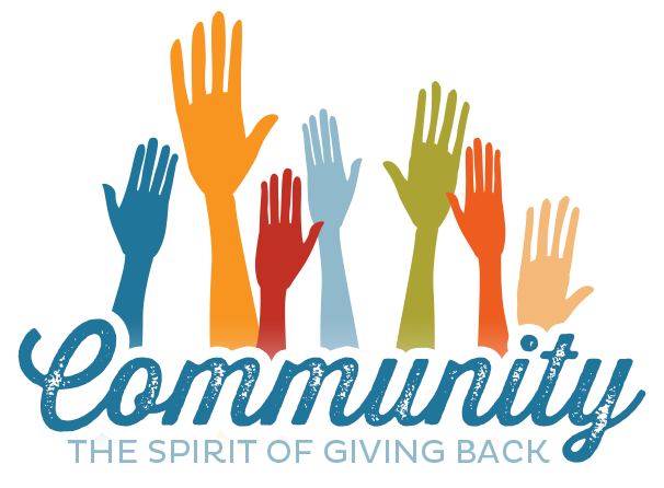 Hands that represent a growing community that gives back
