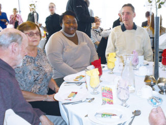 Four volunteers honored at the Volunteer Appreciation Luncheon.