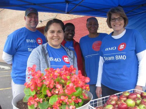 BMO Harris Bank volunteers provided TWC with a summer farm stand