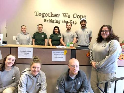 Members of Americorp were here to help out in the pantry and resale shop Wed. Oct. 30.